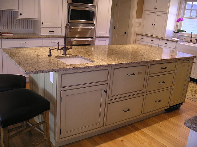 Sudbury MA kitchen island
