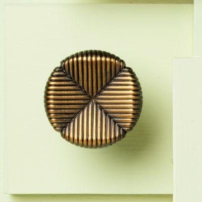 Textured Clover Cabinet Knob