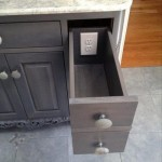 Outlets can be installed inside drawers to declutter your countertops