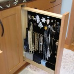This pullout is a clever way to keep jewelry organized